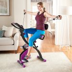 Flex Bike Ultra in Pink with resistance bands