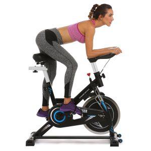 ANCHEER Belt Drive Indoor Cycling Bike, 49 LBS Flywheel