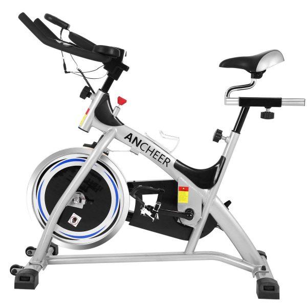 Ancheer Simpfree Indoor Cycling Bike, Belt Drive