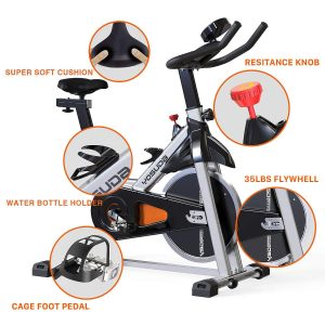 YOSUDA Stationary Pro Belt Drive Indoor Cycling Bike
