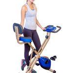 PLENY Foldable Upright Exercise Bike with Backrest
