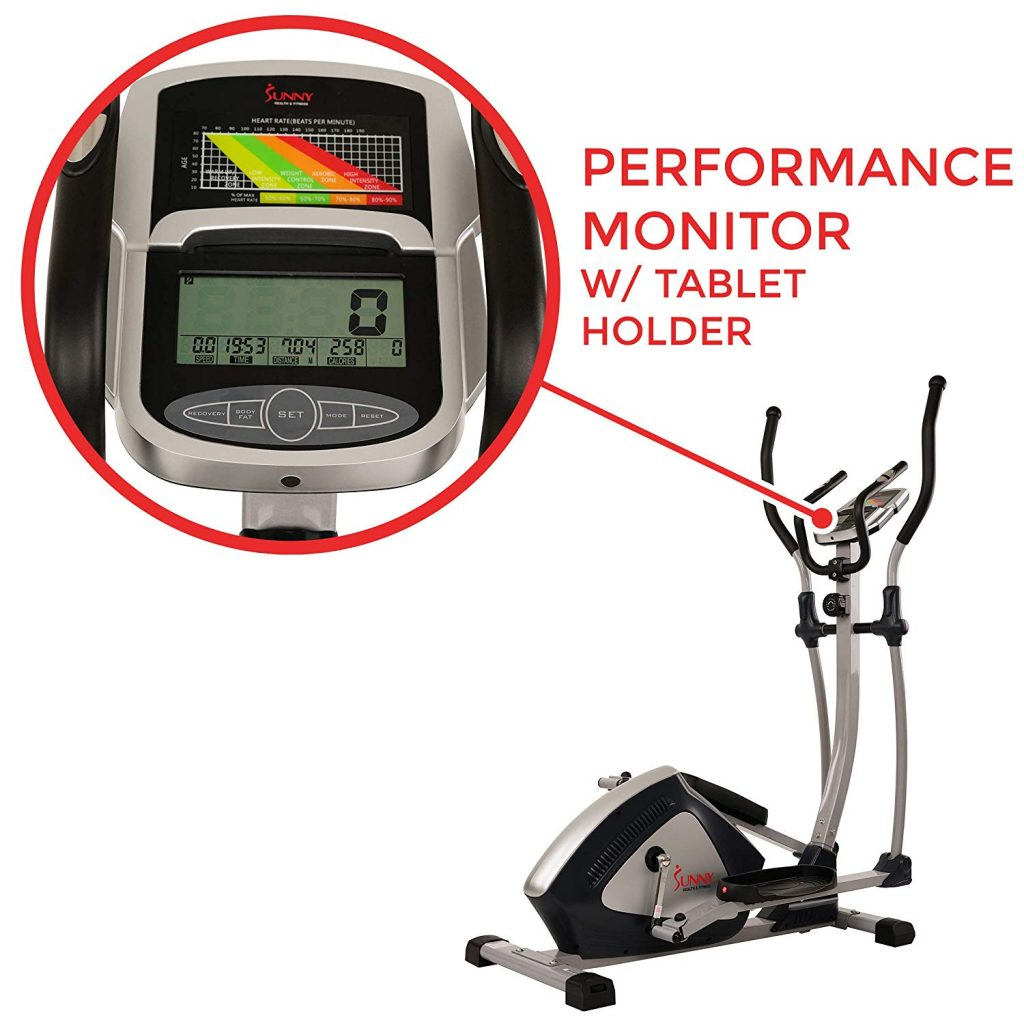 Sunny Health & Fitness SF-E3804 Magnetic Elliptical LCD Display