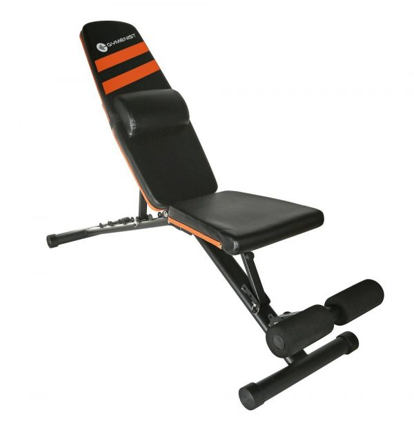 GYMENIST Adjustable Foldable Compact Exercise Bench