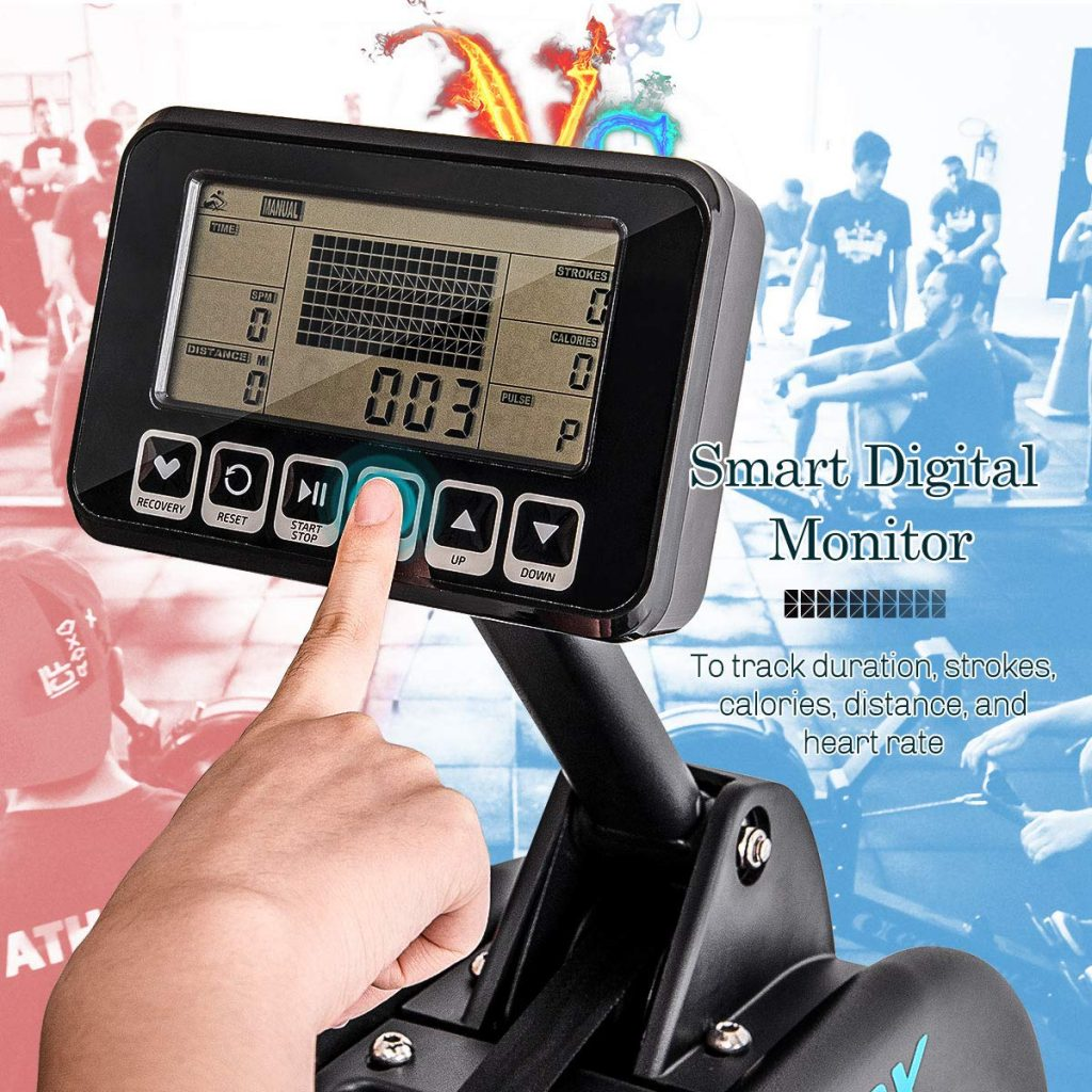 Merax Water Rower LCD Display