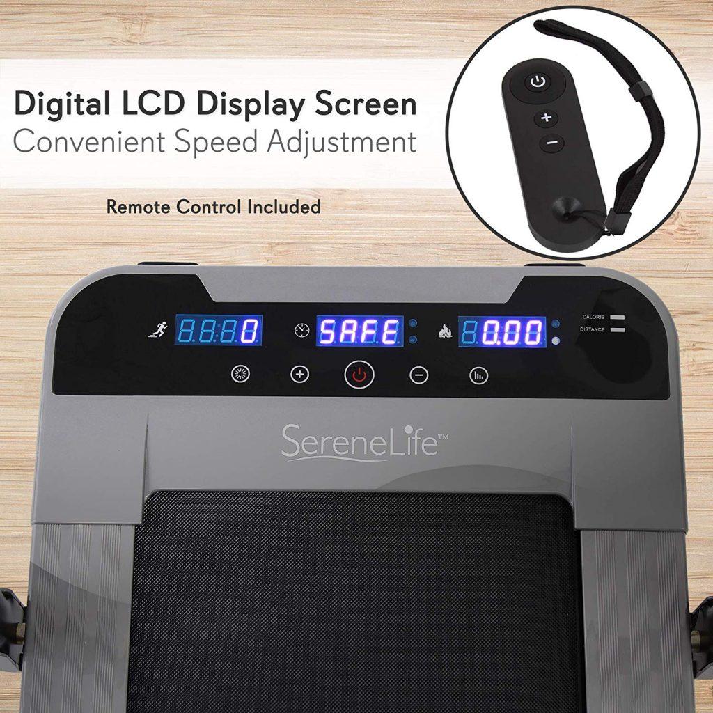 SereneLife SLFTRD50 Folding Digital Portable Electric Treadmill Digital Display