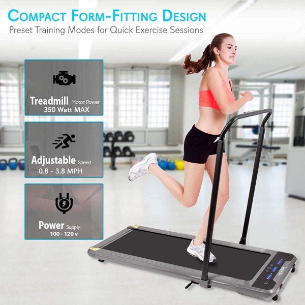 SereneLife SLFTRD50 Folding Digital Portable Electric Treadmill