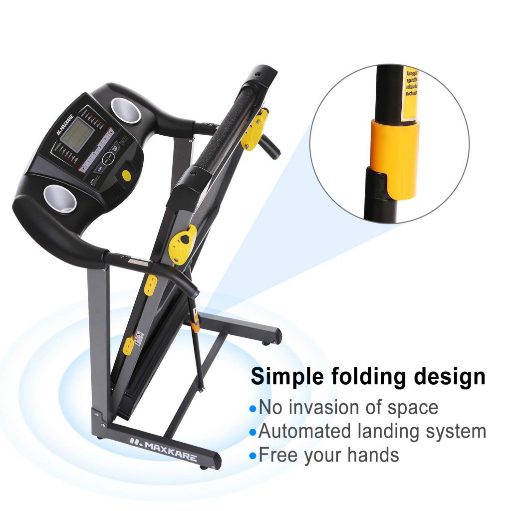 maxkare treadmill foldable design