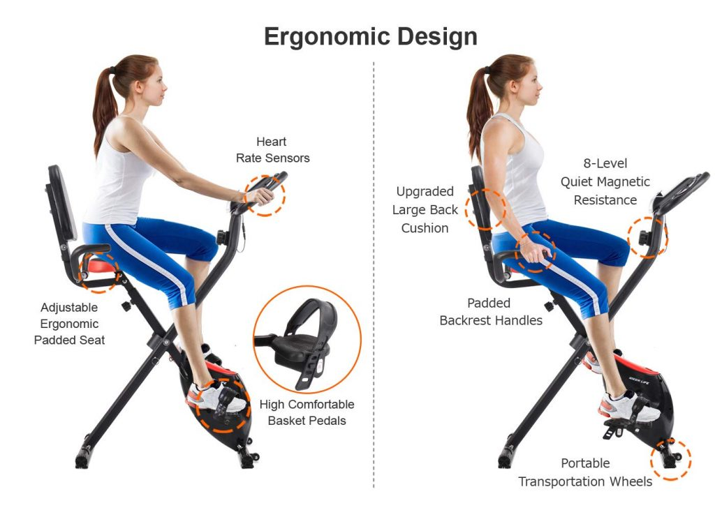 IDEER Foldable Upright Magnetic Exercise Bike