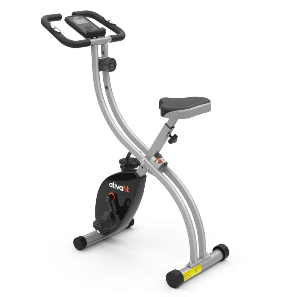 ATIVAFIT Indoor Cycling Bike Folding Magnetic Upright