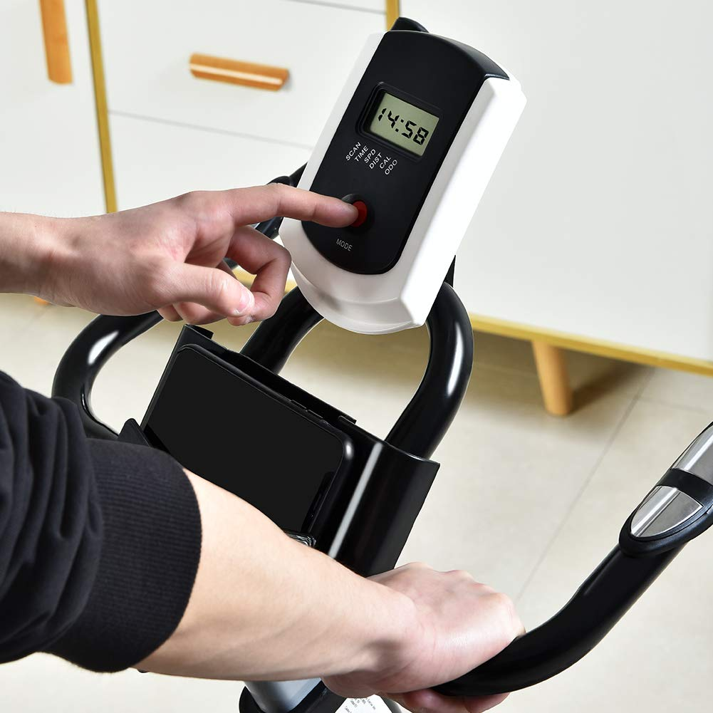 ML-SPEED Silent Belt Driven Exercise Bike with LCD