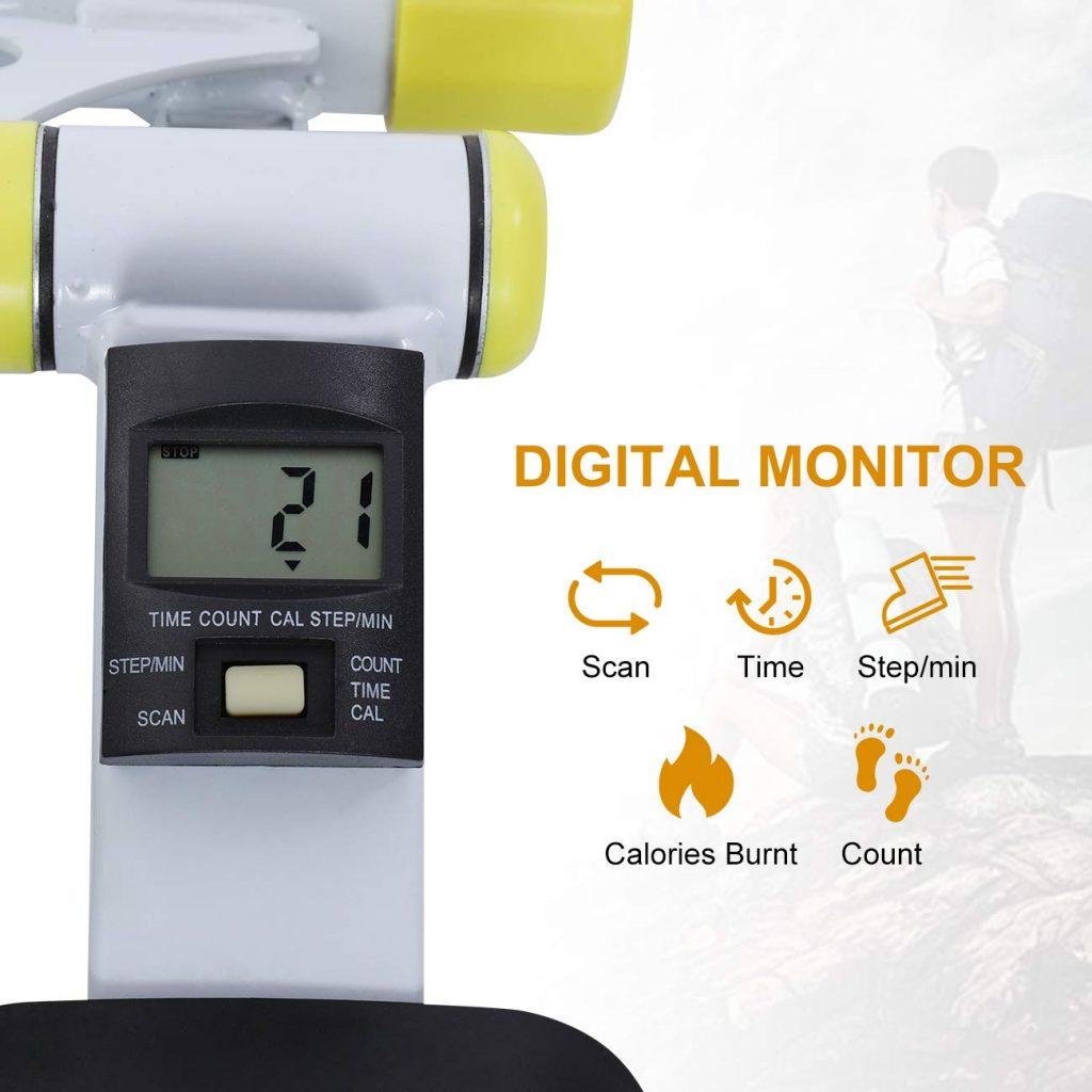 Doufit Folding Stepper Workout Machine, ST-01 Digital Monitor