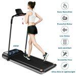 goplus ultra-thin electric foldable treadmill