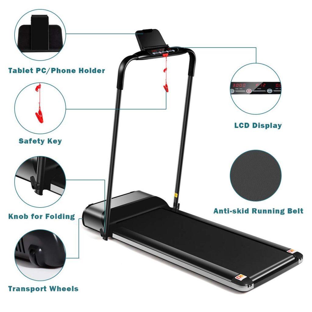 goplus ultra thin electric folding treadmill