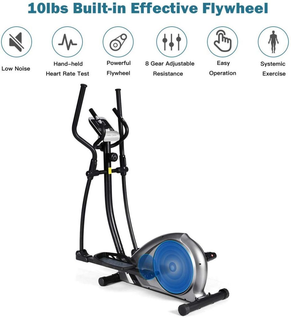 GOPLUS Magnetic Elliptical Trainer