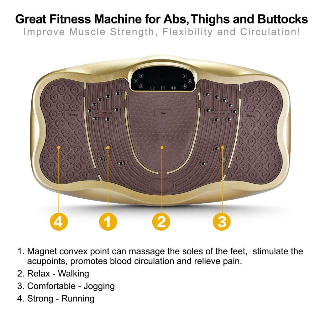 TECHMOO Fitness 3D Vibration Plate with Remote