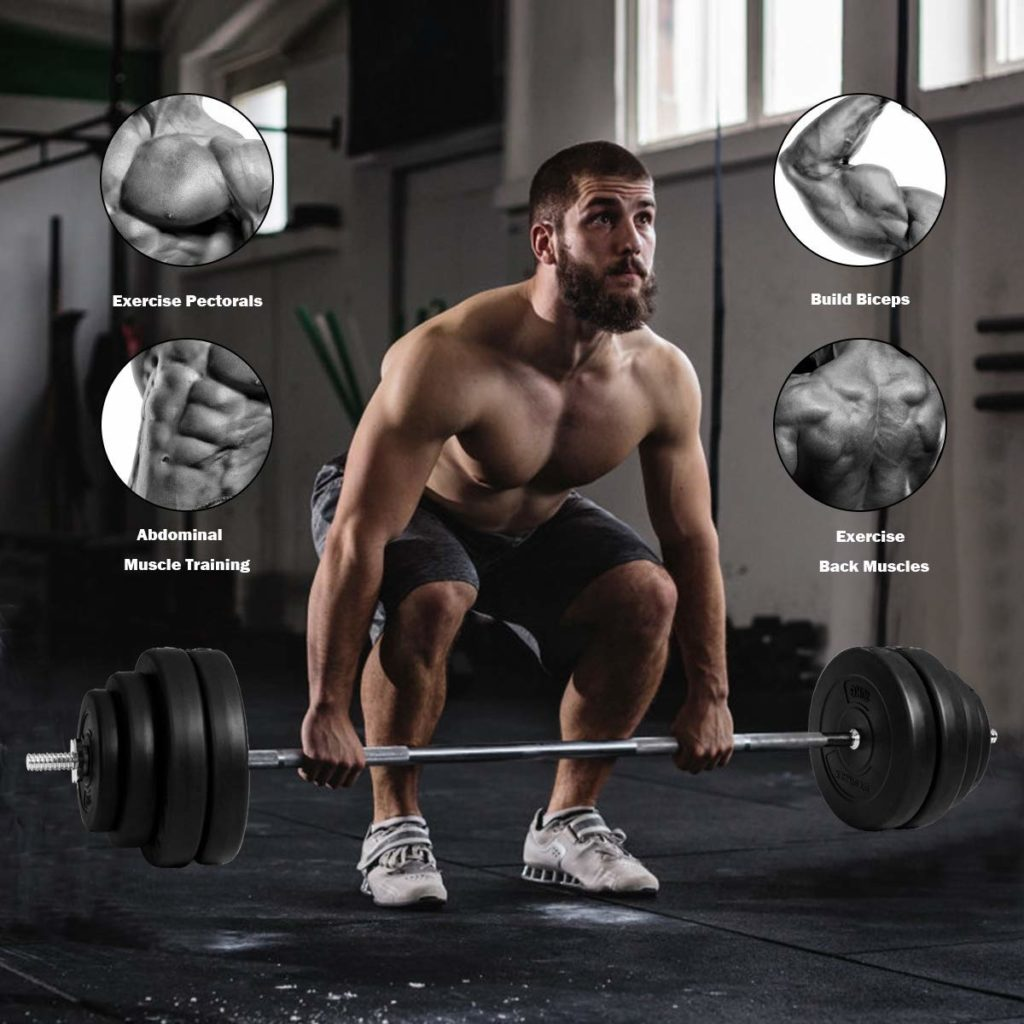 GYMAX Barbell Weight Set