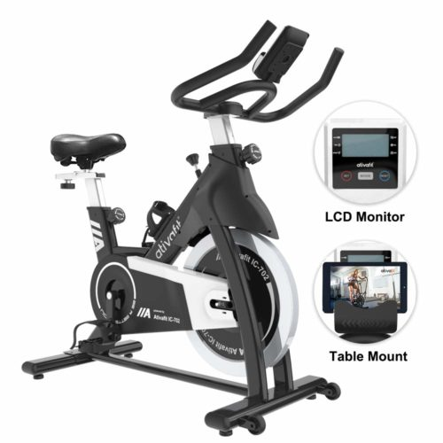 ATIVAFIT Stationary Indoor Cycling Bike 35 lbs Flywheel Belt Drive