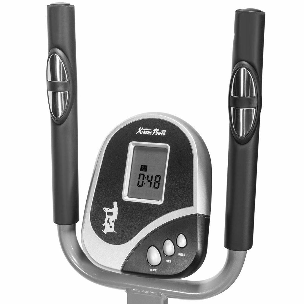 XtremepowerUS 2 in 1 Elliptical Fan Bike Dual Cross Trainer LCD Display