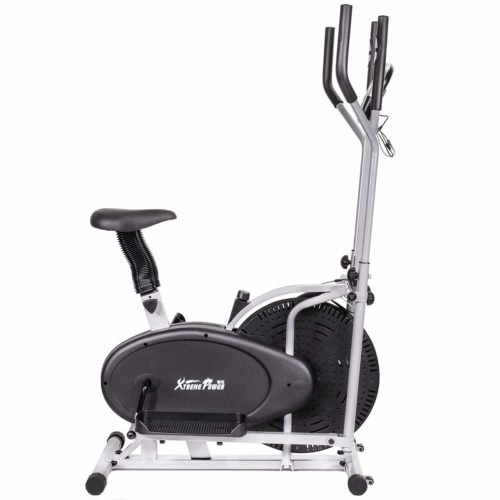 XtremepowerUS 2 in 1 Elliptical Fan Bike Dual Cross Trainer