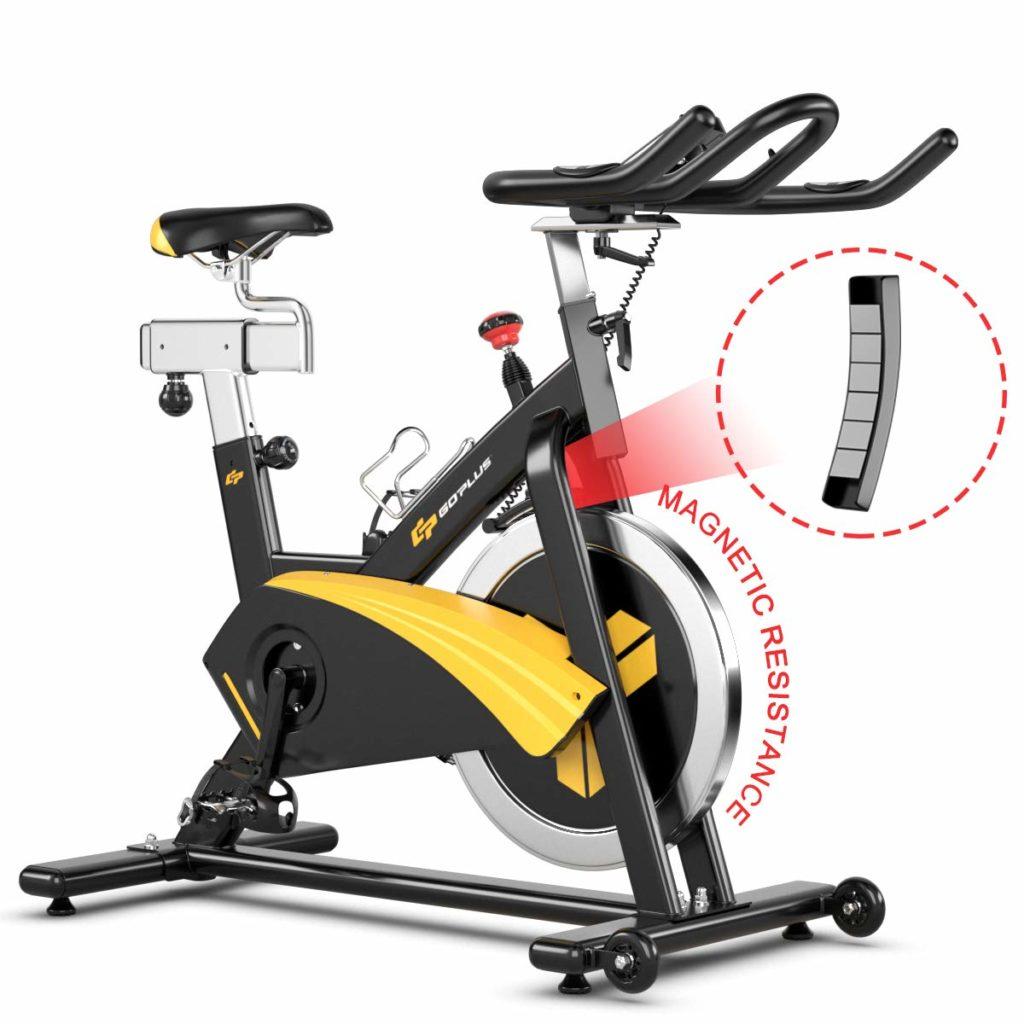 Goplus Magnetic Stationary Belt Drive Exercise Bike