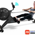 SereneLife Smart Rowing Machine with FitShow App, SLRWMC60