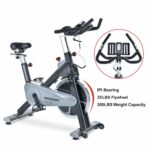 TECHMOO Fitness Upright Exercise Bike Magnetic Belt Drive