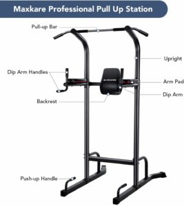 MaxKare Power Tower Workout Dip Stand Pull Up Bar Station Parts