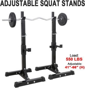 F2C Max Load 550Lbs Pair of Adjustable Rack Stand