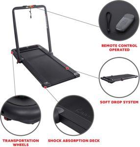 Sunny Health & Fitness Treadpad, Folding Treadmill with HD Sound