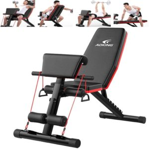 Mosunx Home Gym Adjustable Weight Bench