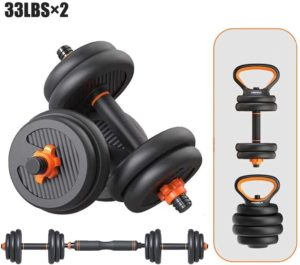 Pinroyal 4 in 1 Fitness Dumbbell Barbell Kettlebells