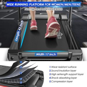 DR.GYMLEE Folding Smart Motorized Treadmill