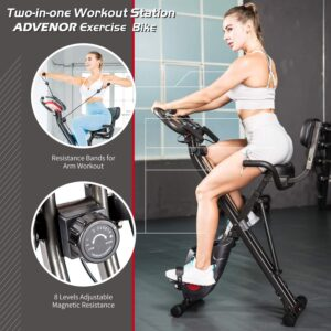 ADVENOR Magnetic Foldable Stationary Bike