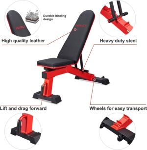 DERACY Ajustable Weight Bench Full Body