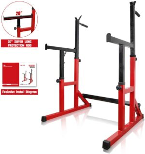 ER KANG Multi-Function Barbell Rack, 600LBS