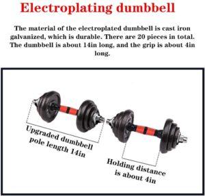 DD-home Adjustable Dumbbell Barbell Lifting Set 110 lb.