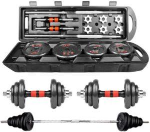 DD-home Adjustable Dumbbell Barbell Lifting Set