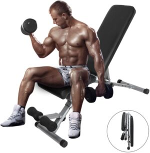 ER KANG Adjustable Weight Bench, 600 lbs