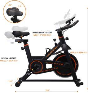 UREVO Indoor Stationary Exercise Cycling Bike