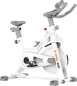 pooboo X5 Exercise Bike, Belt Drive