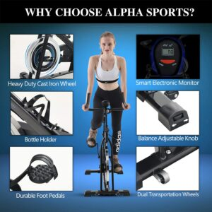Alpha Sports Exercise Indoor Cycling Bike Features