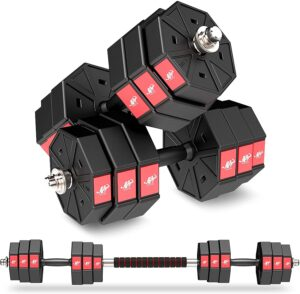 LEADNOVO Weights Dumbbell Barbell Set
