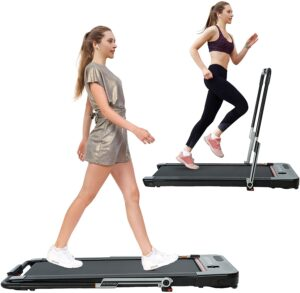 HOTSYSTEM 2 in 1 Folding Treadmill