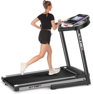 SYTIRY Treadmill with 12-Inch Color Screen