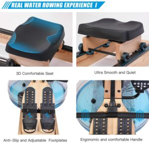 BOWDEX Natural Ash Wood Rower for Home Use