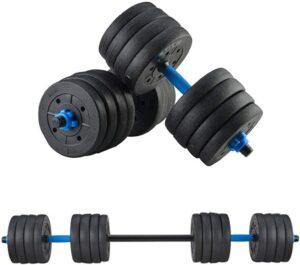 DOYCE 88 Pounds Adjustable Dumbbells Set