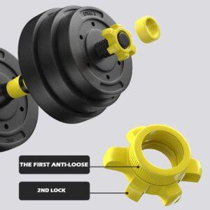 DOYCE 88 Pounds Dumbbells anti loose 2nd lock