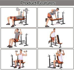 XioNiu Adjustable Folding Weight Bench
