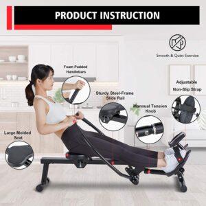 MaxKare Magnetic Hydraulic Folding Rowing Machine