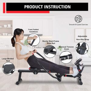 MaxKare Magnetic Hydraulic Folding Rowing Machine
